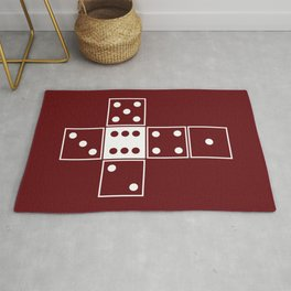 Red Unrolled D6 Rug
