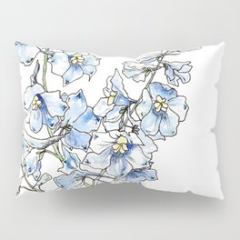 Blue Delphinium Flowers Pillow Sham