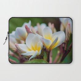 White Spring Flower Laptop Sleeve