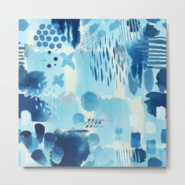 Study in blue, watercolor Metal Print