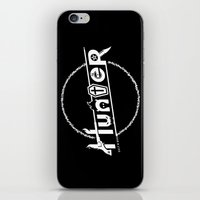 hunter iPhone & iPod Skins featuring Hunter by Barn Bocock