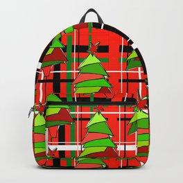 Plaid Trees Backpack