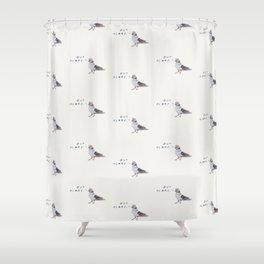 Zut Alors // French Birds Shower Curtain