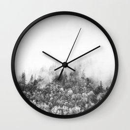 Monochromatic Landscape Wall Clock