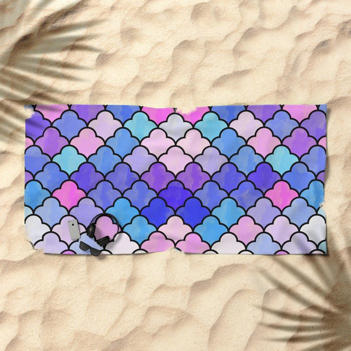 Watercolor Lovely Pattern VVXIII Beach Towel