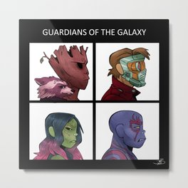 Guradians of the Galaxy - Demon Days Metal Print