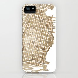 Hoboken New Jersey city map iPhone Case