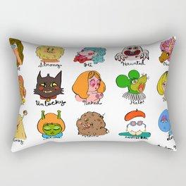 Feelings Revisited Rectangular Pillow