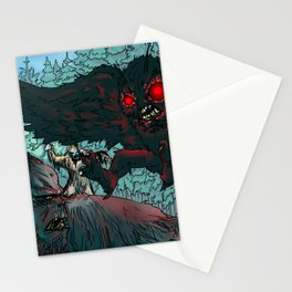 MOTHMAN DIVE BOMBING SASQUATCH Stationery Cards
