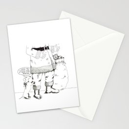 """Leave the cookies and I wont start barking."" Stationery Cards"