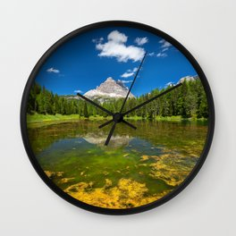 Summer at the Lake Wall Clock