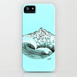 Rythm of waves iPhone Case