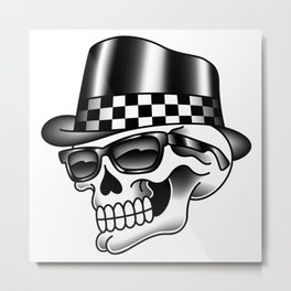 Rocksteady Skull Metal Print
