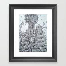 Quietly Creeping Framed Art Print