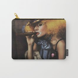 sad Girl clown with old dress smoke a cigar Carry-All Pouch