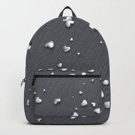 VALENTINE HEARTS - Silver Hearts & Dark Pinstripe Backpack