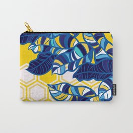 Geo Pop Foliage on Yellow & White Carry-All Pouch