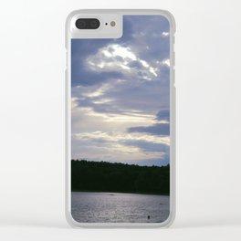Walden Pond at Dusk 4 Clear iPhone Case