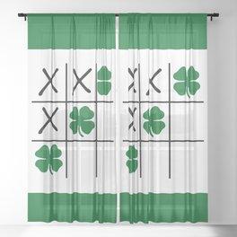 Shamrock Tic Tac Toe Sheer Curtain