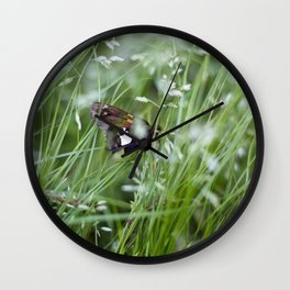 Sliver spotted skipper moth Wall Clock
