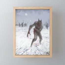 Wounded Wolf Framed Mini Art Print