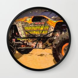 Monster Jam Party in the Pits Wall Clock