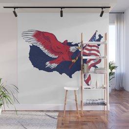 Patriotic American Eagle Wall Mural