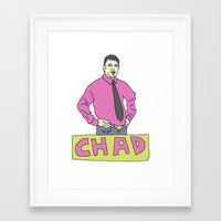 chad wys Framed Art Prints featuring chad by gutswav