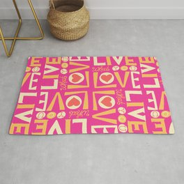 Live What You Love: Pink/Orange Rug
