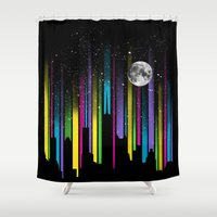 night sky Shower Curtains featuring Night Sky by Li.Ro.Vi