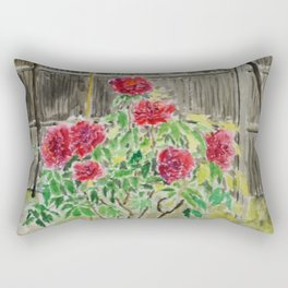 Peony in Japanese Garden Rectangular Pillow