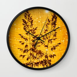 Delicate grasses - light and shadow #1 Wall Clock
