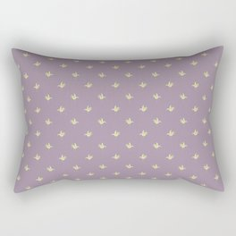 Mauve Vintage Lily-of-the-Valley Mini-Print Pattern Rectangular Pillow