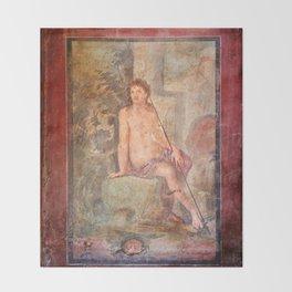 Roman Fesco in Pompei Throw Blanket