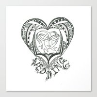 wedding Canvas Prints featuring Wedding by Jo Falcon-Cross