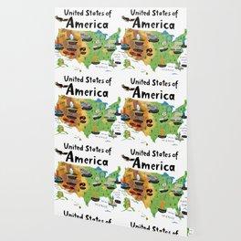 Map of USA Wallpaper