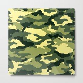 Camouflage Grassland Pattern Metal Print