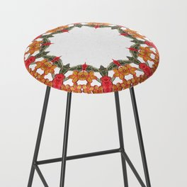 Embroidered Pattern Bar Stool