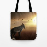 skyfall Tote Bags featuring Skyfall by BlueHunter