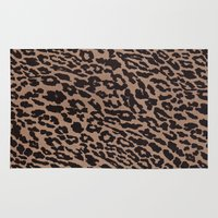leopard Area & Throw Rugs featuring Leopard by dani