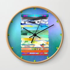 COLLAGE LOVE - a Princess and a pea  Wall Clock