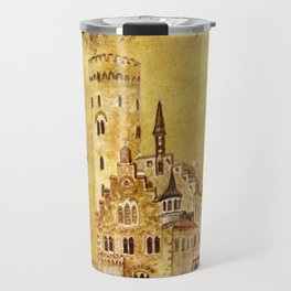 Medieval Golden Castle Travel Mug