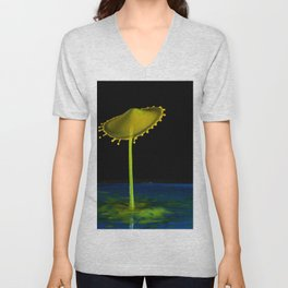 Abstract Mushroom 7 Unisex V-Neck