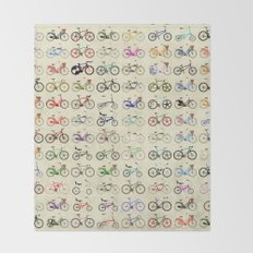 Bikes Throw Blanket