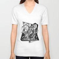 prometheus V-neck T-shirts featuring Prometheus by Pat Pot Designs