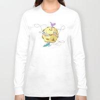 potato Long Sleeve T-shirts featuring Moon Potato by skarmanami