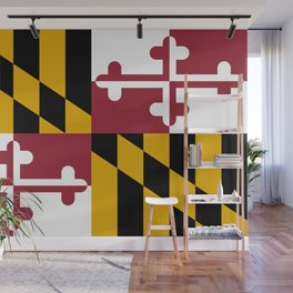 Maryland State Flag, Hi Def image Wall Mural