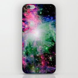 Orion Nebula Black Pyschedelic iPhone Skin