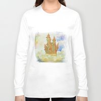 castle in the sky Long Sleeve T-shirts featuring castle in the sky by Ancello