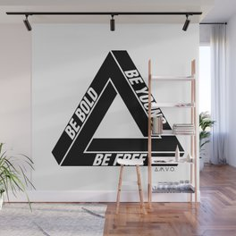 Penrose Triangle Wall Mural